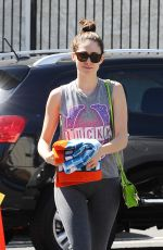 EMMY ROSSUM Heading to a Yoga Class in Los Angeles 06/22/2015