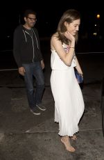 EMMY ROSSUM Leaves Osteria mMozza Italian Restaurant in Hollywood 05/30/2015