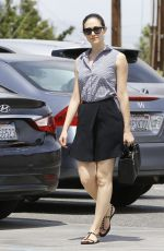 EMMY ROSSUM Out Shopping in Los Angeles 06/29/2015