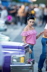 EVA LONGORIA on the Set of Low Riders in Los Angeles 06/23/2015