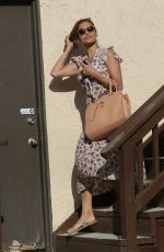 EVA MENDES Leaves a Salon in Hollywood 06/22/2015