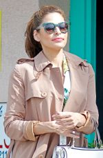 EVA MENDES Out and About in Santa Monica 06/05/2015