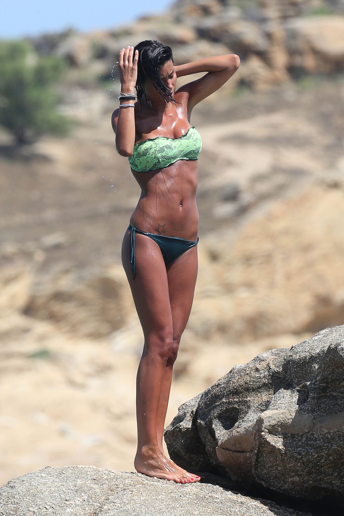 FEDERICA NARGI in Bikini on the Beach in Mykonos 06/16/2015