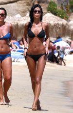 FEDERICA NARGI in Black Bikini at a Beach in Mykonos 06/13/2015