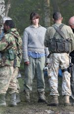 GEMMA ARTERTON on the Set of She Who Brings Gifts in West Midlands 05/31/2015