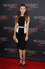 GENEVIEVE HANNELIUS at Insidious Chapter 3 Premiere in Hollywood