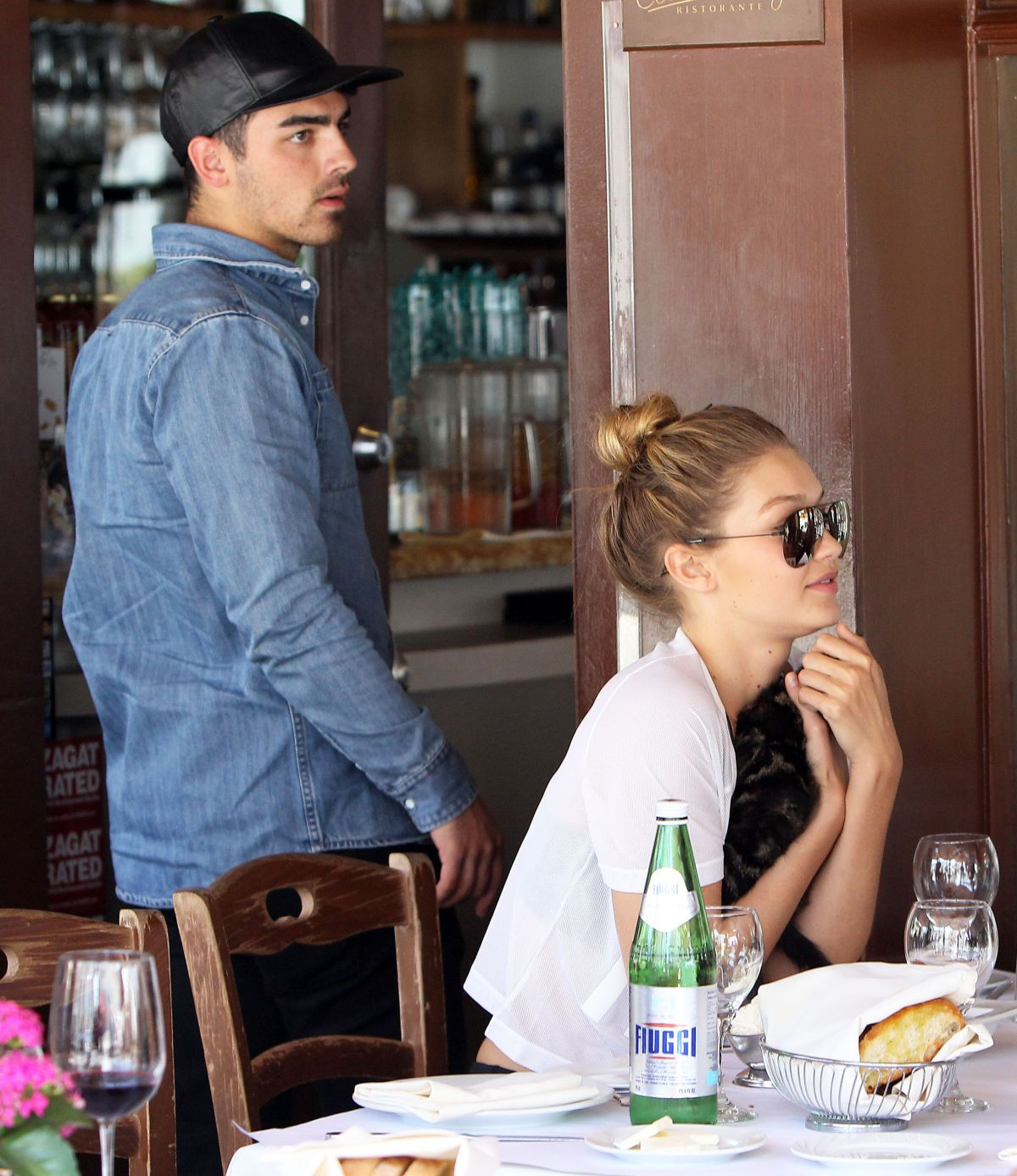 GIGI HADID at Il Pastaio in Beverly Hills 06/15/2015 ...