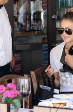 GIGI HADID at Il Pastaio in Beverly Hills 06/15/2015
