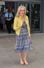 GILLIAN ANDERSON at Heathrow Airport in London 06/25/2015