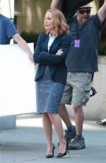 GILLIAN ANDERSON on the Set of The X-Files in Vancouver 06/09/2015