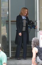 GILLIAN ANDERSON on the Set of The X-Files in Vancouver 06/24/2015