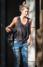 GISELE BUNDCHEN in Ripped Jeans Out in New York 06/24/2015