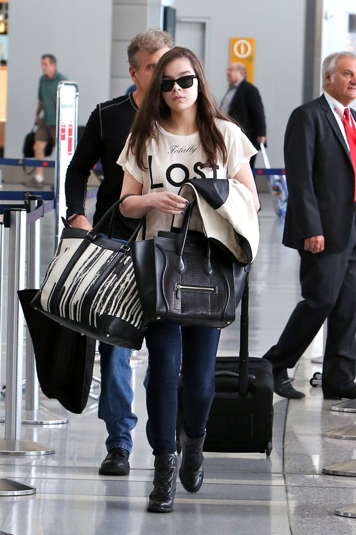 HAILEE STEINFELD at Pearson Airport in Toronto 06/22/2015