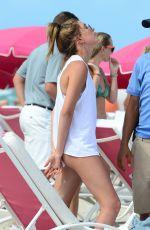 HAILEY BALDWIN in Bikini at a Beach in Miami 06/13/2015