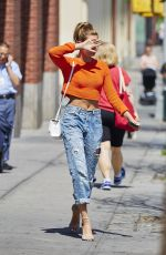 HAILEY BALDWIN in Ripped Jeans Out and About in New York 06/17/2015