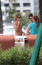 HAILEY BALDWIN in SHorts Outside Her Hotel in Miami 06/14/2015