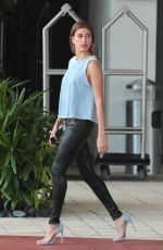 HAILEY BALDWIN Leaves Her Hotel in Miami 06/12/2015