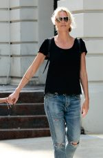 HEIDI KLUM Out and About in New York 06/09/2015