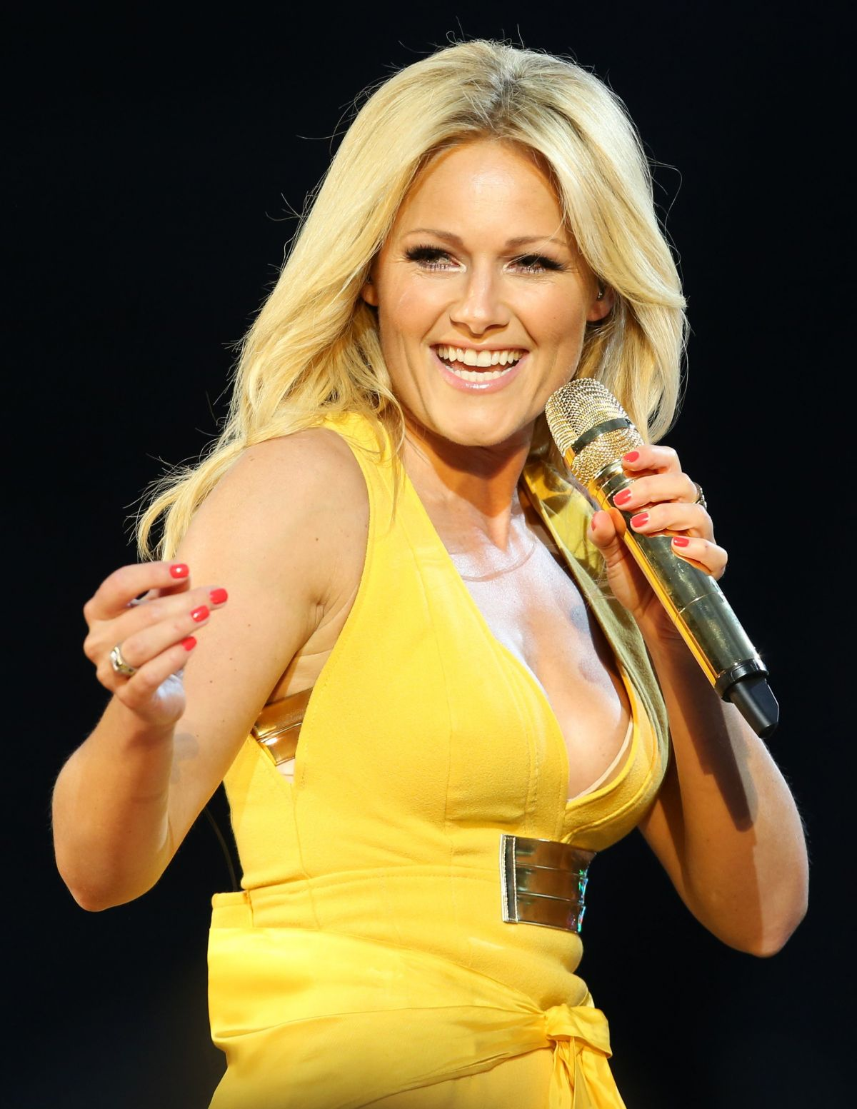 HELENE FISCHER at Stadion Tour in Rostock 06/02/2015