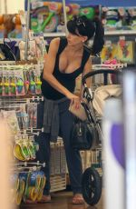 HILARIA BALDWIN Out Shopping in New York 06/21/2015