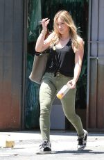 HILARY DUFF Heading to a Dance Studio in Hollywood 06/08/2015