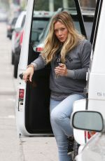 HILARY DUFF in Jeans Out in Los Angeles 06/12/2015