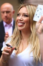 HILARY DUFF Leaves The View in New York 06/18/2015