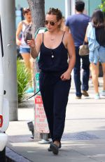 HILARY DUFF Out and About in Beverly Hills 06/29/2015
