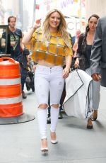 HILARY DUFF Out and About in New York 06/15/2015