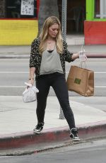 HILARY DUFF Out and About in West Hollywood 06/10/2015
