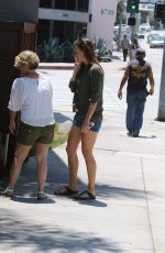 HILARY SWANK Heading to Zinque Restaurant in Los Angeles 06/20/2015