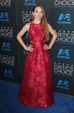 HOLLY TAYLOR at 5th Annual Critics Choice Television Awards in Beverly Hills