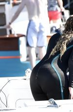 MARIAH CAREY in Wetsuit at a Beach in Italy 06/22/2015