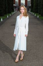 LILY JAMES at Vogue and Ralph Lauren Wimbledon Party in London