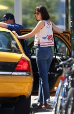 DAKOTA JOHNSON in Jeans on the Set of How to be Single 06/25/2015