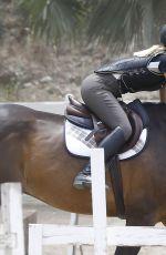 IGGY AZALEA at Horeback Riding in Calabasas 06/04/2015