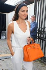 IRINA SHAYK Leaves Givenchy Fashion Show in Paris