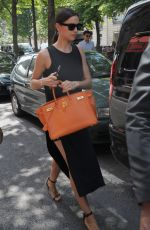 IRINA SHAYK Out and About in Paris 06/26/2015