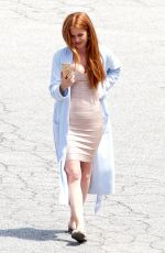 ISLA FISHER on the Set od Keeping Up With Joneses in Atlanta