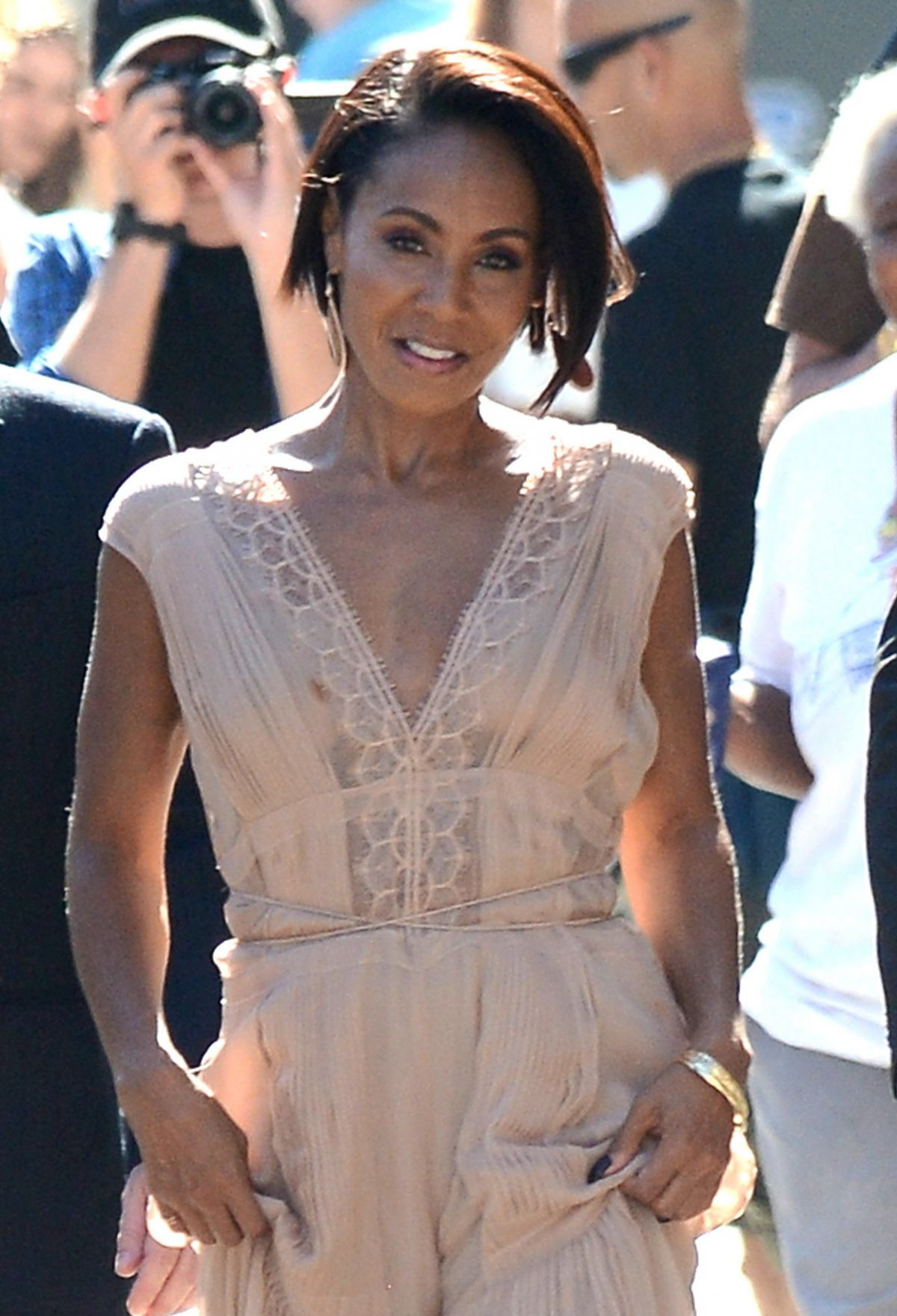 JADA PINKETT SMITH Arrives at Jimmy Kimmel Live! in Hollyood 06/25/2015