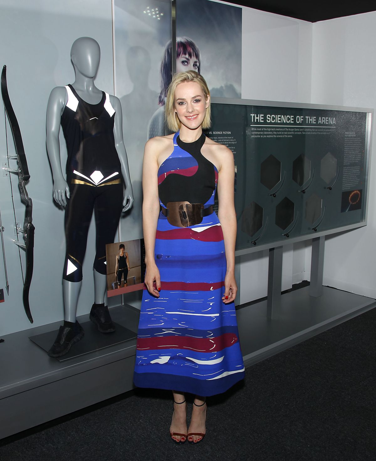 JENA MALONE at The Hunger Games: The Exhibition VIP Event in New York