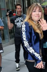JENNETTE MCCURDY Leaves SiriusXM Studios in New York 06/09/2015