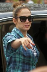 JENNIFER LOPEZ at Shades of Blue Set in New York 06/15/2015