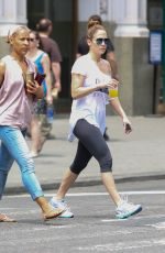 JENNIFER LOPEZ in Leggings Out and About in New York 06/11/2015