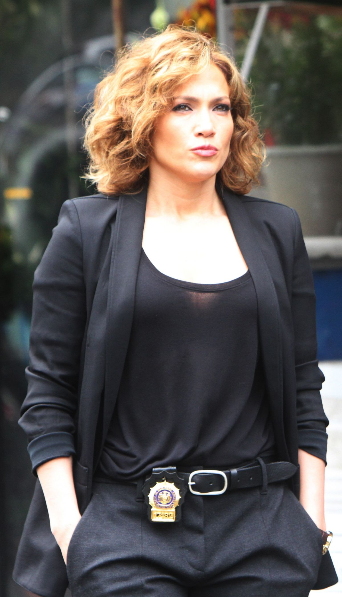 JENNIFER LOPEZ on the Set of Shades of Blue in New York 06/08/2015 ...