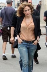 JENNIFER LOPEZ on the Set of Shades of Blue in New York 06/04/2015