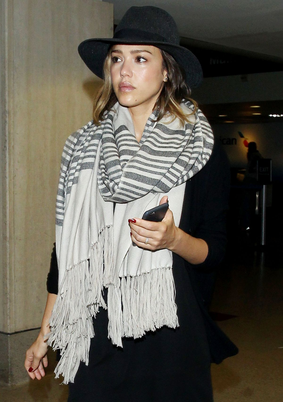 JESSICA ALBA at LAX Airport in Los Angeles 06/12/2015