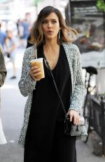 JESSICA ALBA Out and About in New York 06/09/2015