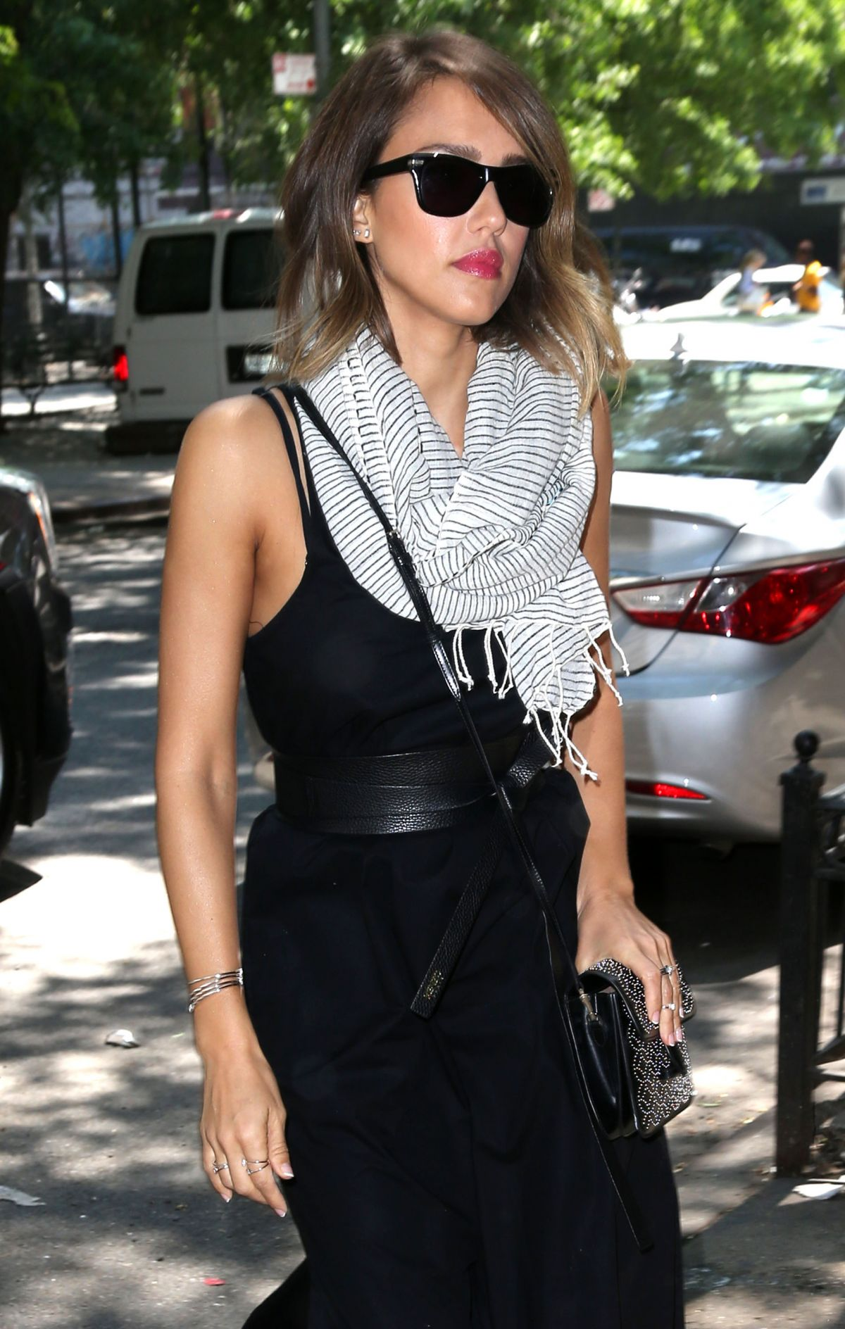 JESSICA ALBA Out and About in New York 06/10/2015