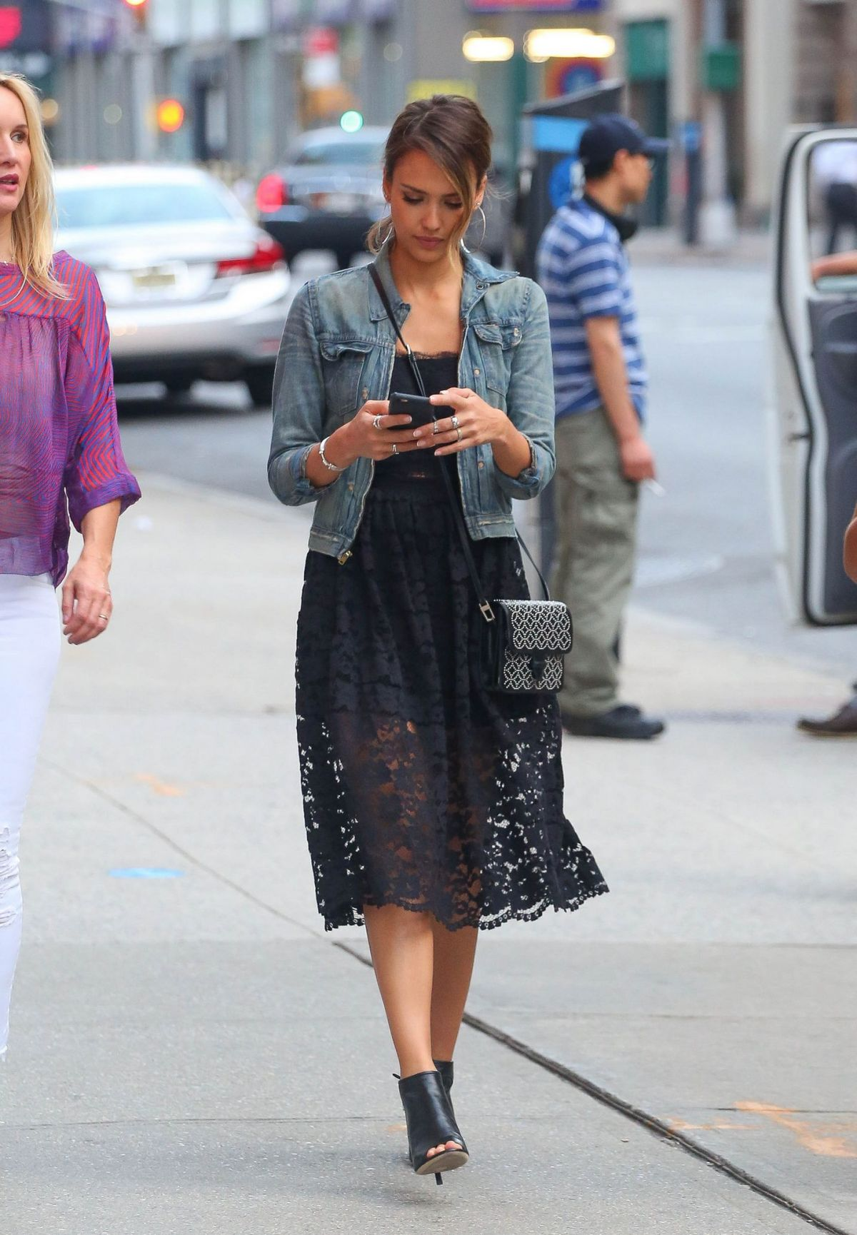 JESSICA ALBA Out and About in New York 06/11/2015